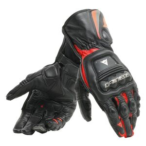 Dainese Steel Pro Gloves Black/Fluo Red / LG [Demo - Good]
