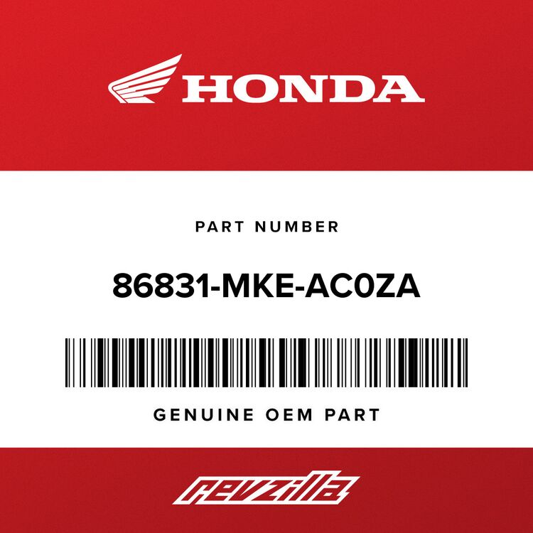 Honda MARK, R. SIDE COVER (TYPE1) (AVAIL.THROUGH CONTROLLED PART ORDER- SEE PIB#16711 TO ORDER) 86831-MKE-AC0ZA