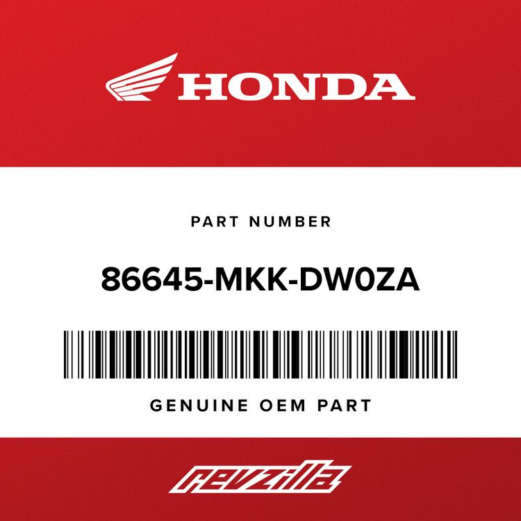 Honda STRIPE C, R. MIDDLE COWL (TYPE2) 86645-MKK-DW0ZA