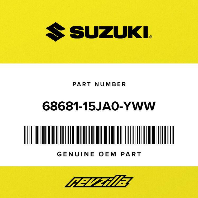 """Suzuki .EMBLEM, """"R"""" (WHITE) 68681-15JA0-YWW"""