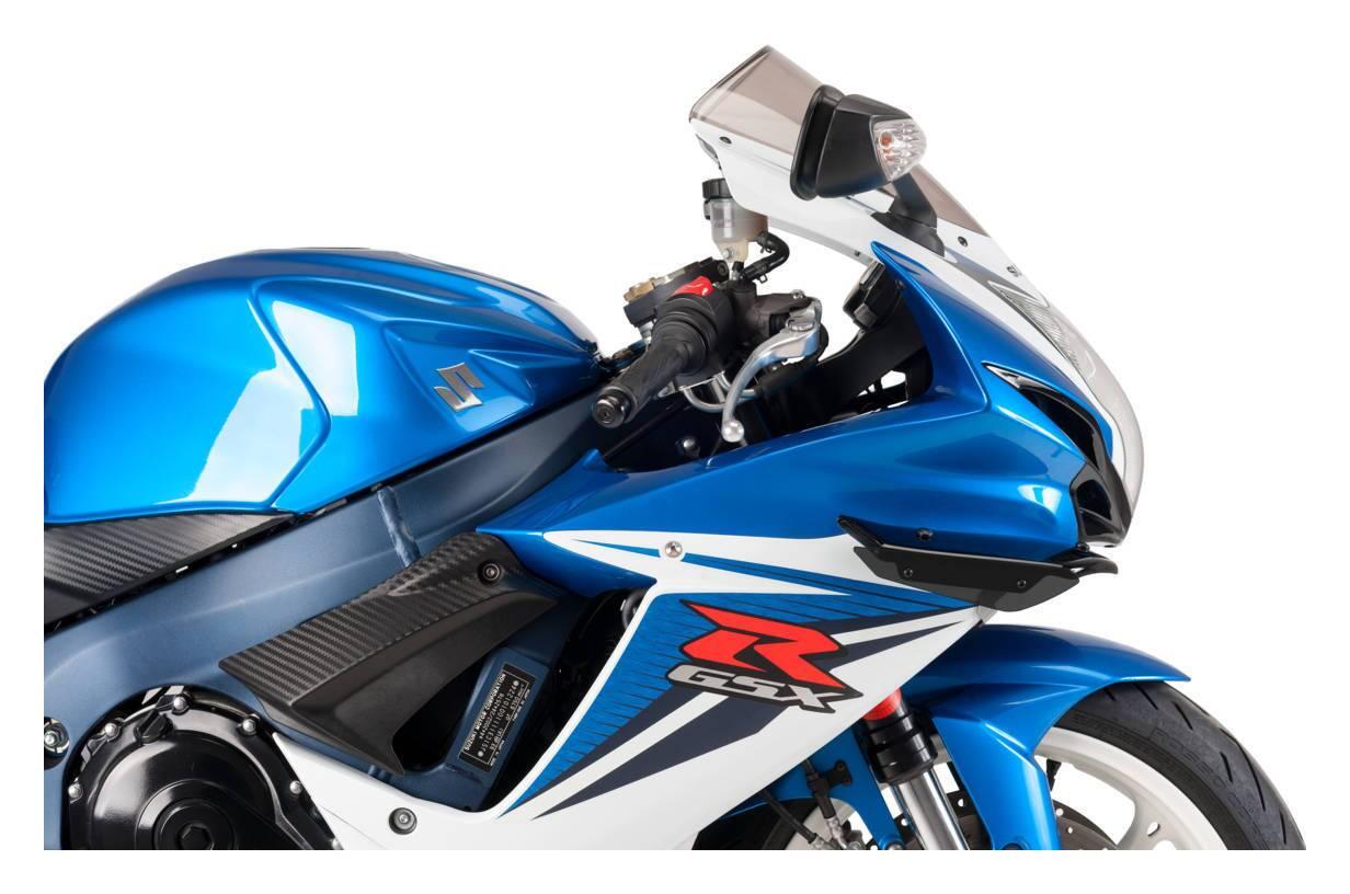 JDJD Motorcycle Spoiler Motorrad Windschutzscheibe Windschutzscheibe Gepasst Fit for Suzuki GSXR 600 GSXR 750 GSXR600 GSXR750 2000-2003//2001-2002 GSXR1000 K1 K2 Double Bubble Color : Black