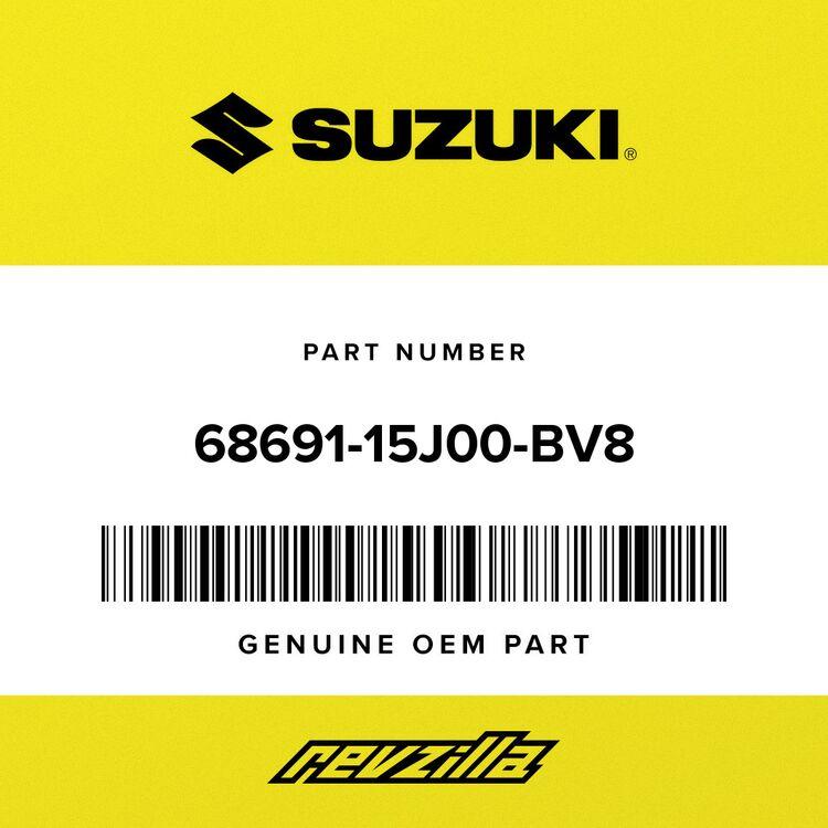 """Suzuki .EMBLEM, """"GSXR"""" LH (RED/BLACK 68691-15J00-BV8"""