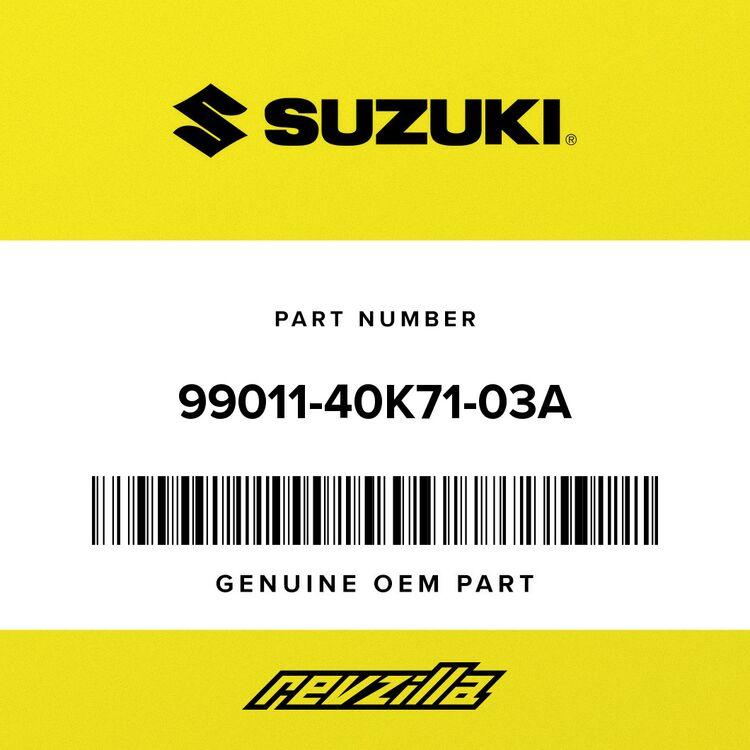 Suzuki MANUAL, OWNER'S (ENGLISH) 99011-40K71-03A
