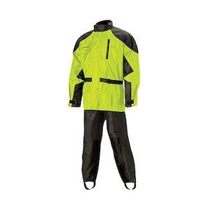 Nelson Rigg Aston Rain Suit - Black/Hi-Viz Yellow