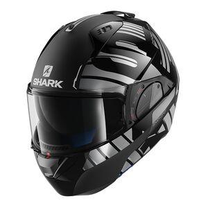 Shark EVO One 2 Lithion Helmet Black/Chrome / LG [Demo - Good]