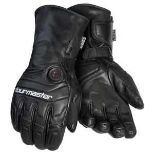 Tour Master 7V Synergy Heated Women's Leather Gloves Black / XS [Open Box]