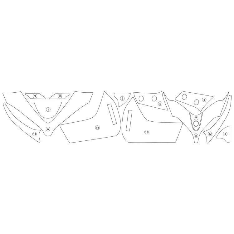 R&G Racing Second Skin Polyurethane Protective Film Ducati Multistrada 1260 / S