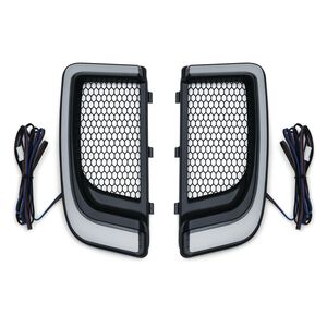 Kuryakyn Tracer LED Fairing Lower Grills For Harley Touring 2014-2020