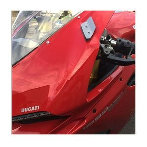 New Rage Cycles Mirror Block Off LED Turn Signals Ducati 959 Panigale Brushed Aluminum [Blemished - Very Good]