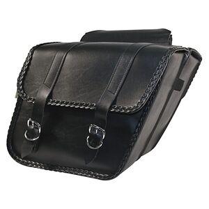 Willie & Max Braided Slant Throw-Over Saddlebags Black / Large [Open Box]