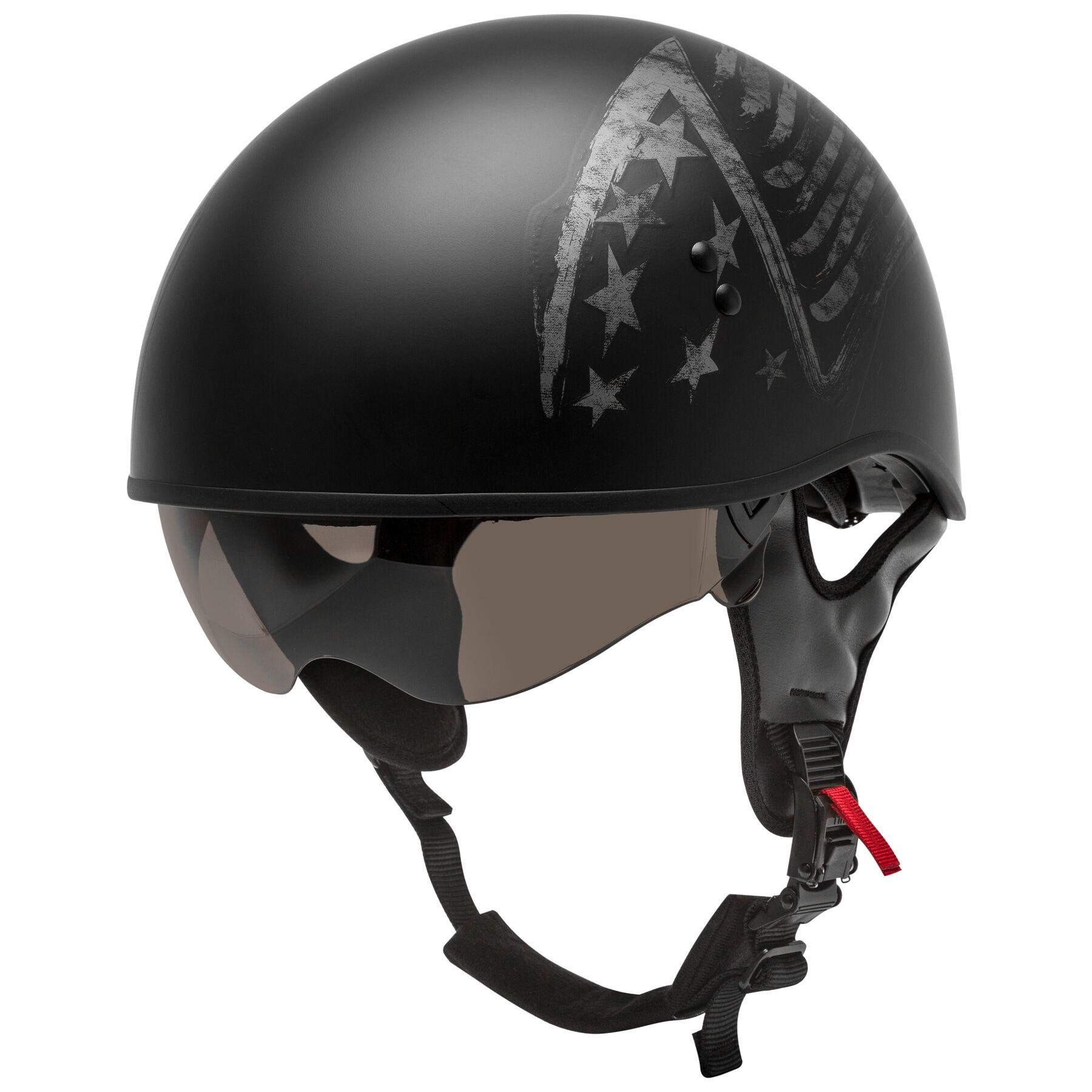 GMAX GM 65 Solid Full Dressed Half Helmet