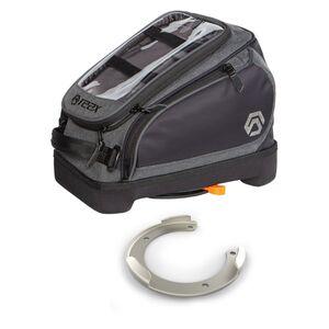 REAX Trident Speed Lock Tank Bag And Mounting Ring Kit Kawasaki