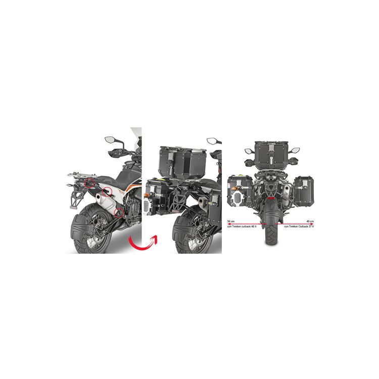 Givi PLOR7710CAM Side Case Racks For Trekker Outback Side Cases KTM 790 Adventure / R 2019-2020
