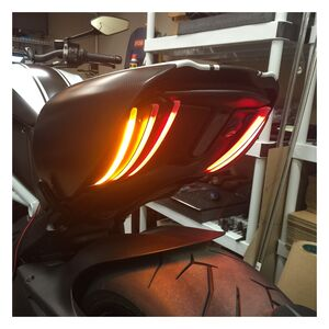 New Rage Cycles LED Rear Turn Signals Ducati Diavel 2011-2018 Black [Previously Installed]