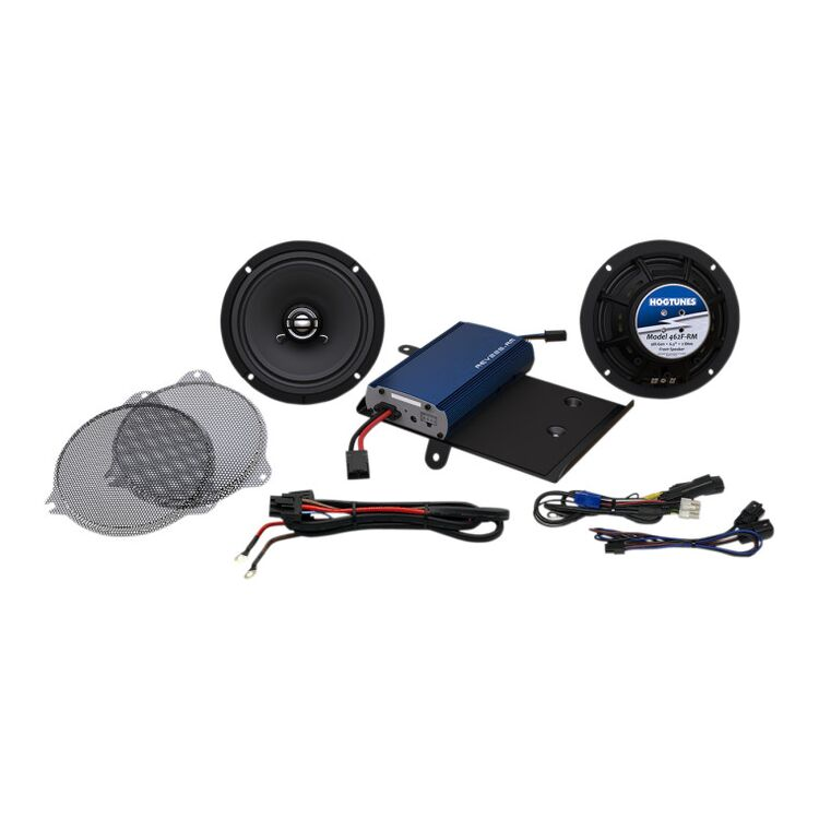 Hogtunes G4 Front Speakers And 225 Watt Amp Kit For Harley Touring 2014-2020