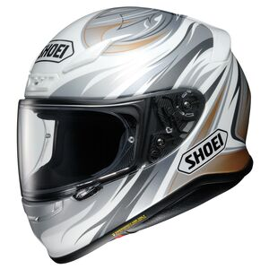 Shoei RF-1200 Incision Helmet White/Grey/Gold / LG [Open Box]