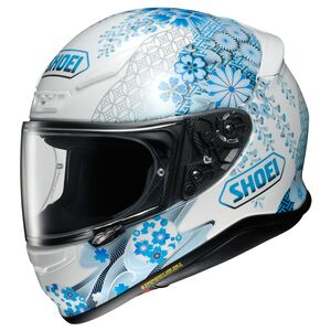 Shoei RF-1200 Harmonic Helmet Blue/White / MD [Open Box]