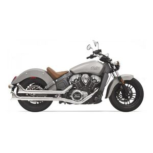 Bassani Fishtail Slip On Mufflers For Indian Scout 2015-2016 Chrome [Previously Installed]