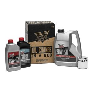 Twin Power Synthetic Oil Change-In-A-Box For Harley Twin Cam 1999-2017