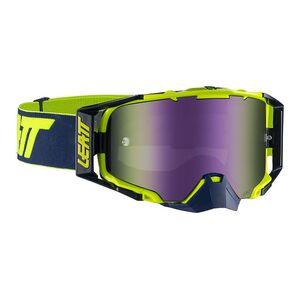 Leatt Velocity 6.5 Goggles - Mirrored Lens Ink/Lime Purple 30% [Open Box]
