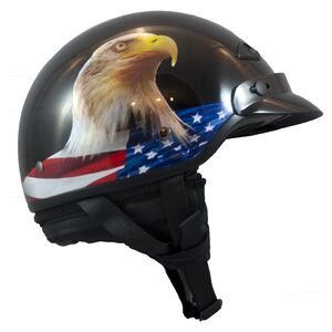 LS2 Bagger Murica Eagle Helmet Gloss Black / MD [Open Box]