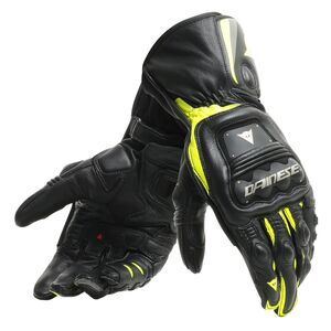 Dainese Steel Pro Gloves Black/Fluo Yellow / LG [Blemished - Very Good]