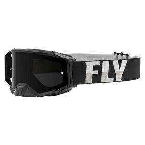 Fly Racing Dirt Zone Pro Goggles Black/White / Dark Smoke [Open Box]