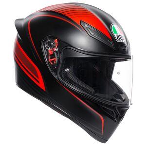 AGV K1 Warmup Helmet Matte Black/Red / LG [Blemished - Very Good]