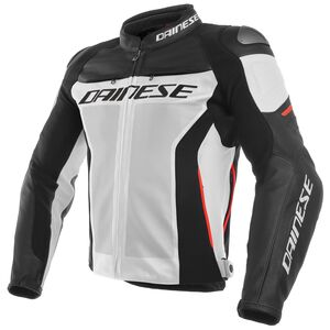 Dainese Racing 3 Perforated Jacket White/Black/Red / 46 [Blemished - Very Good]