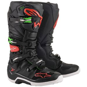 Alpinestars Tech 7 Boots Black/Red/Green / 8 [Blemished - Very Good]