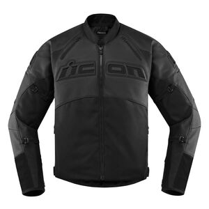 Icon Contra 2 Leather Jacket Stealth Black / XL [Incomplete]