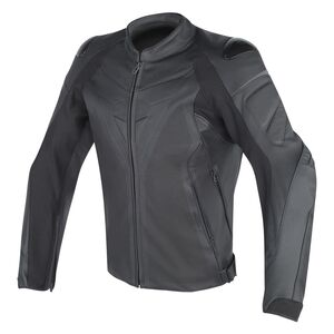 Dainese Fighter Perforated Leather Jacket Black/Black / 56 [Blemished - Very Good]