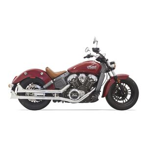 Bassani Fishtail Slip-On Mufflers For Indian Scout 2017-2020