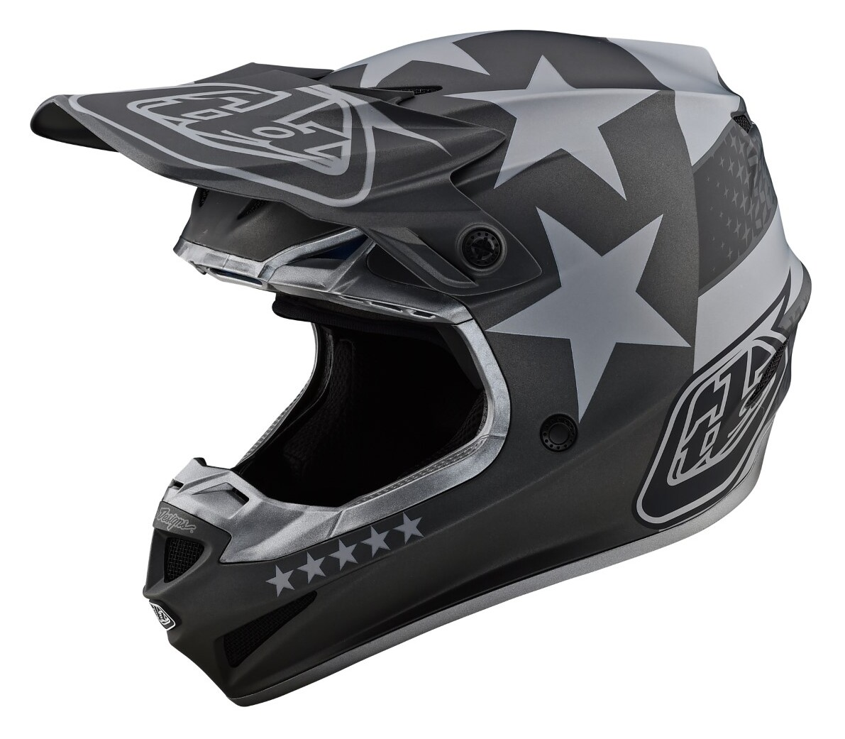 X-Large Troy Lee Designs 2020 SE4 Polyacrylite Helmet with MIPS RED//White Freedom