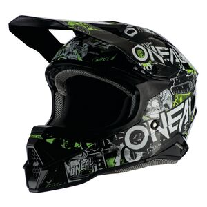 O'Neal 3 Series Attack Helmet Black/Neon Yellow / MD [Open Box]