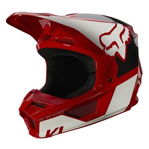 Fox Racing Youth V1 Revn Helmet Flame Red/White / Youth MD [Open Box]