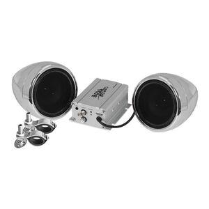 Boss Audio Rebel 600 Watt 2 Speaker Bluetooth Sound System Chrome [Open Box]