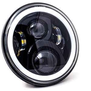 """Letric Lighting Co. 7"""" LED Halo Style Headlamp For Indian 2014-2021"""