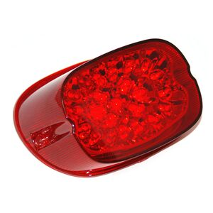 Letric Lighting Co. Squareback LED Taillight w/ Integrated Turn Signals For Harley 1999-2021