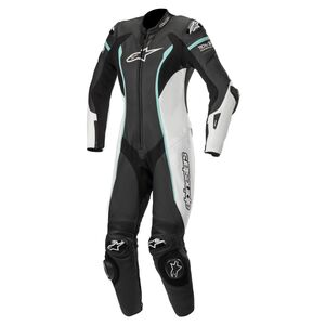 Alpinestars Stella Missile Race Suit For Tech Air Race Black/White/Teal / 42 [Blemished - Very Good]