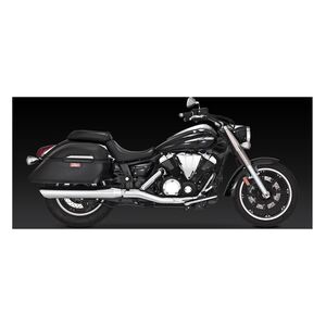 Vance & Hines Twin Slash Round Slip-On Mufflers Yamaha V-Star XV950 / Tourer Slip-On / Chrome [Previously Installed]