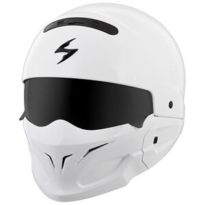 Scorpion EXO Covert White Helmet White / MD [Blemished - Very Good]