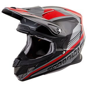 Scorpion EXO VX-R70 Ascend Helmet Silver/Red / SM [Blemished - Very Good]