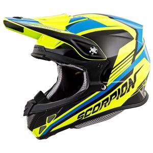 Scorpion EXO VX-R70 Ascend Helmet Neon Yellow/Blue / MD [Open Box]