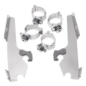 Memphis Shades Fats / Slim / Batwing Trigger-Lock Mount Kit For Harley Dyna / Softail 2006-2017 Polis... [Open Box]