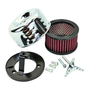 TC Bros Louvered Air Cleaner For Harley S&S Super E / G Chrome [Open Box]