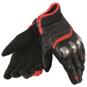 Dainese X-Strike Gloves Black/Fluo Red / LG [Demo - Good]