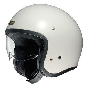 Shoei J·O Helmet - Solid Off White / XS [Open Box]
