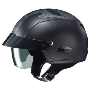 HJC IS-Cruiser Punisher Helmet Black/Grey / SM [Open Box]