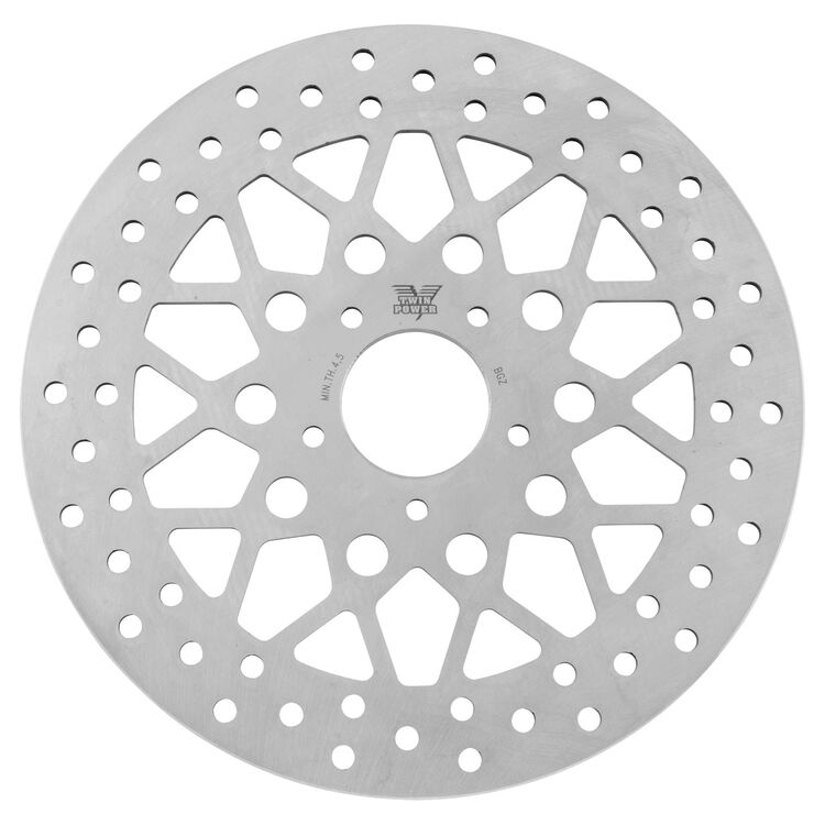 Twin Power Solid Mesh Front Rotor For Harley 2006-2021